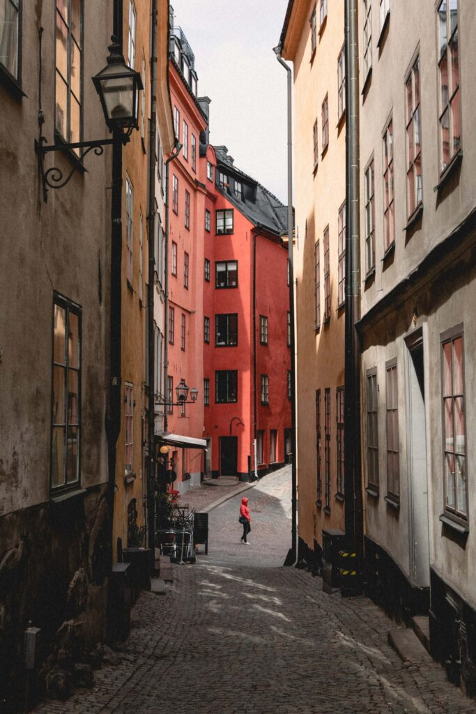 Small street in Gamla Stan in central Stockholm
