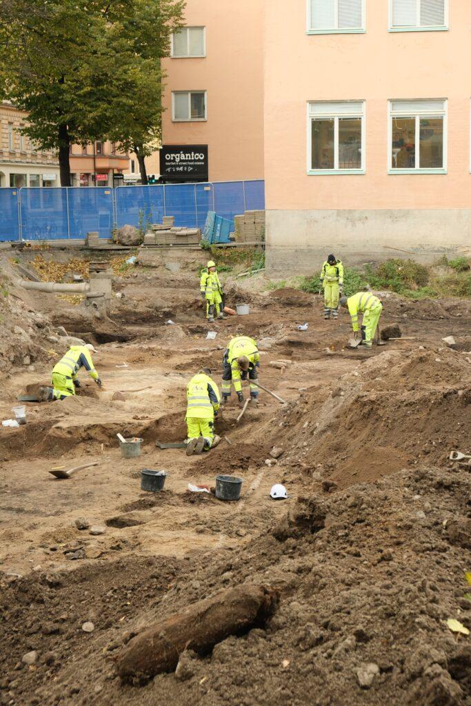 Arkeologisk utgrävning av malmgård på Södermalm.